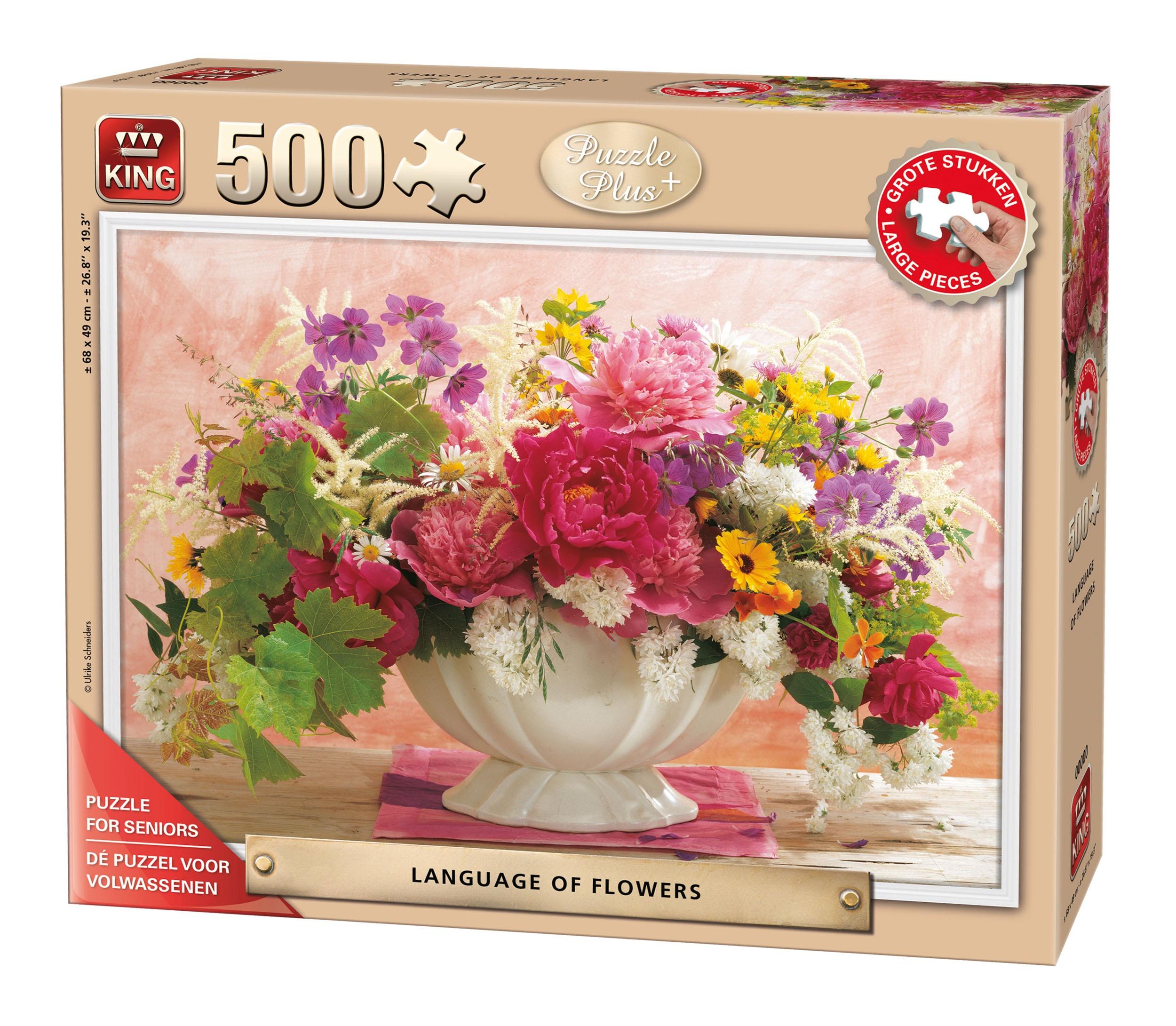 King Jigsaw Puzzle Seniors Language Of Flowers 500 Pieces Internet