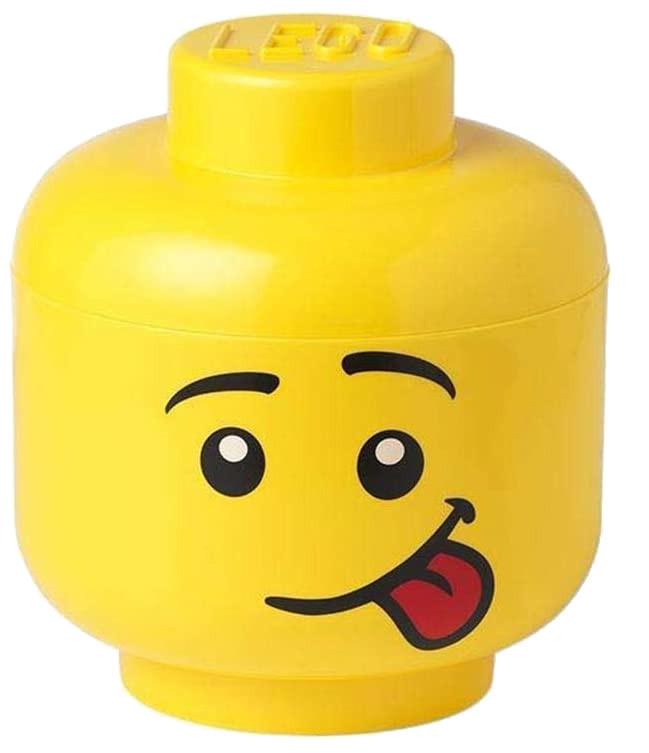 LEGO tête de boîte de rangement Silly large 24 x 27 cm polypropylène jaune - Internet-Toys
