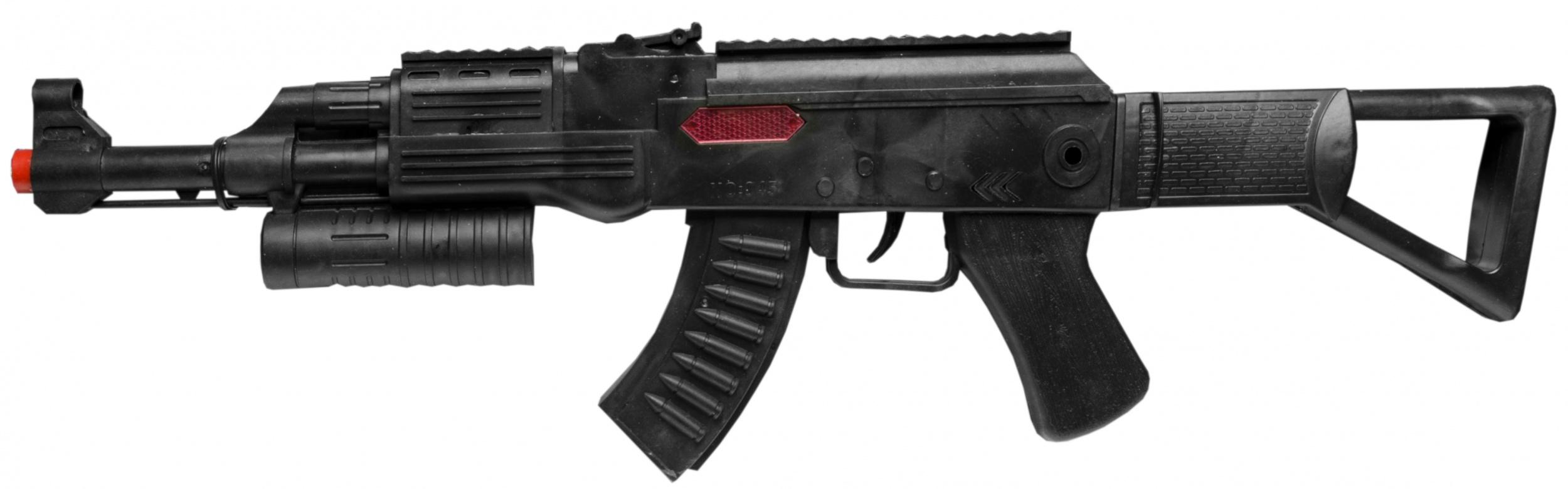 rattle rifle AK-47 black 58 cm