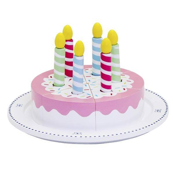 Mamamemo Birthday Cake Wood Pink 13 Piece Enlarge