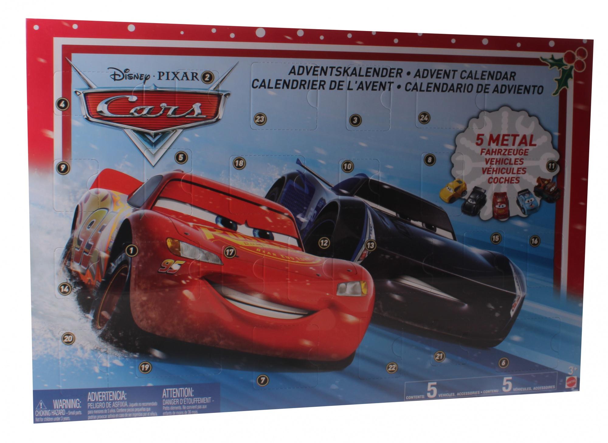 Cars Weihnachtskalender.Mattel Disney Cars 3 Advent Calendar 24 Pieces Internet Toys
