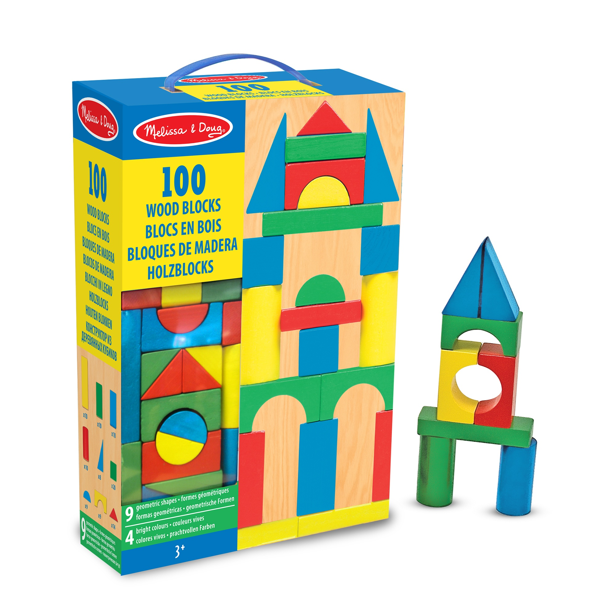 Wooden Building And Stacking Blocks 100 Pieces