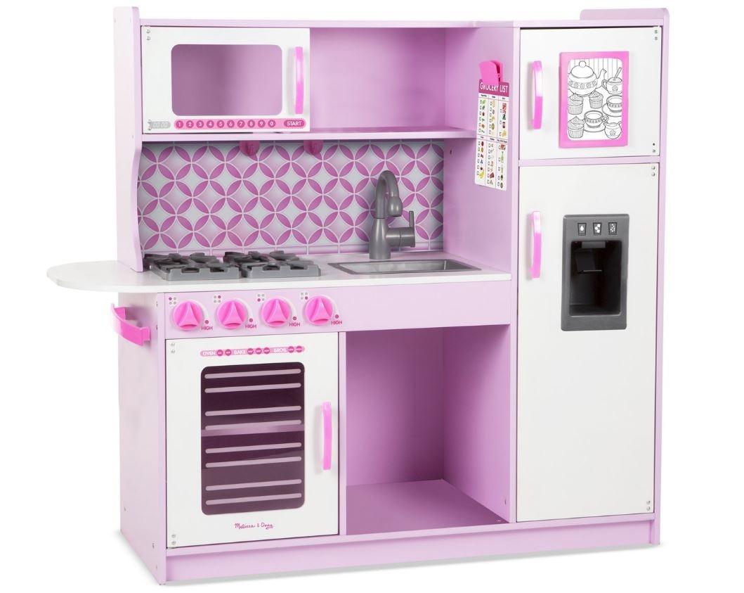 Houten Speelgoed Keuken : Melissa & doug houten speelgoedkeuken 109 x 99 x 39 cm roze