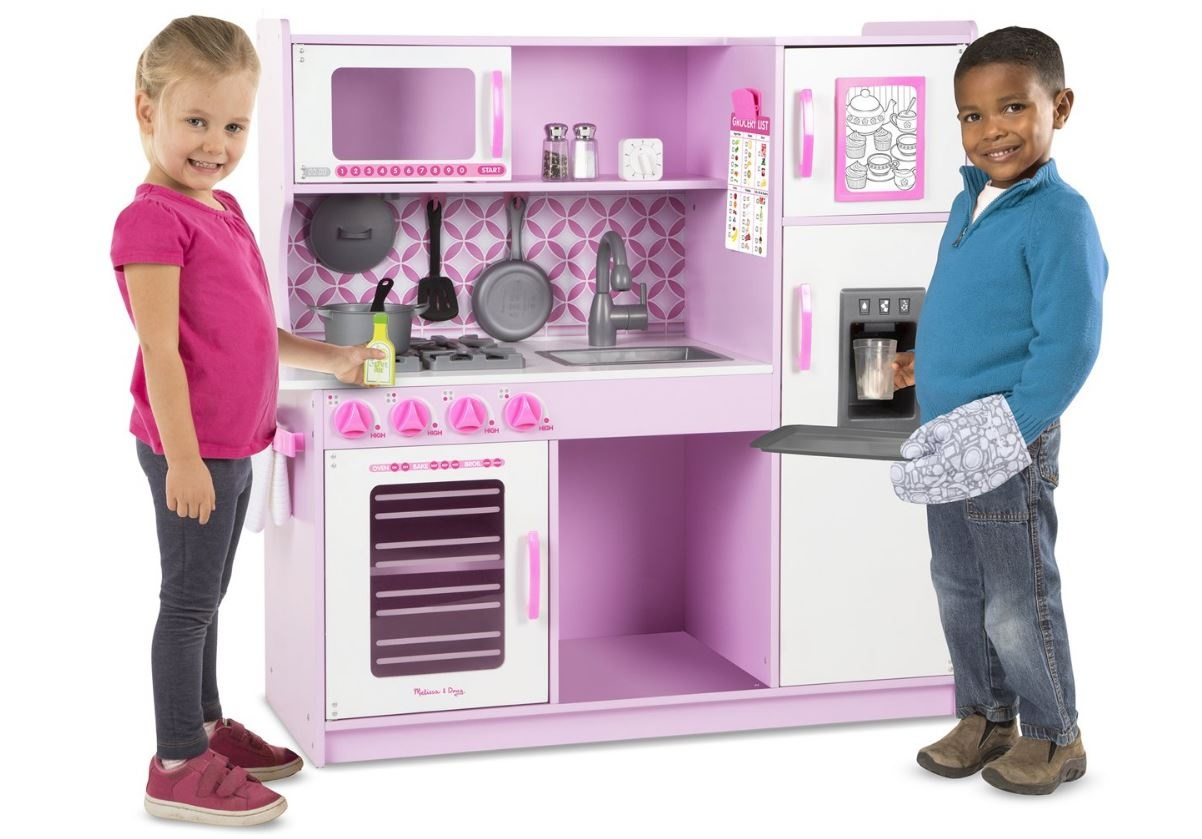 Houten Speelgoed Keuken : Melissa doug houten speelgoedkeuken  cm roze