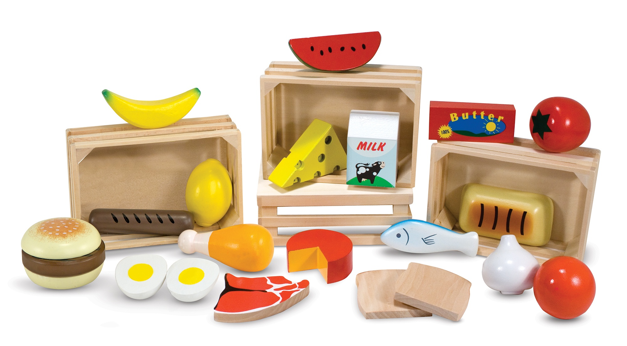 Melissa Doug Crates With Groceries 22 Piece Internet Toys