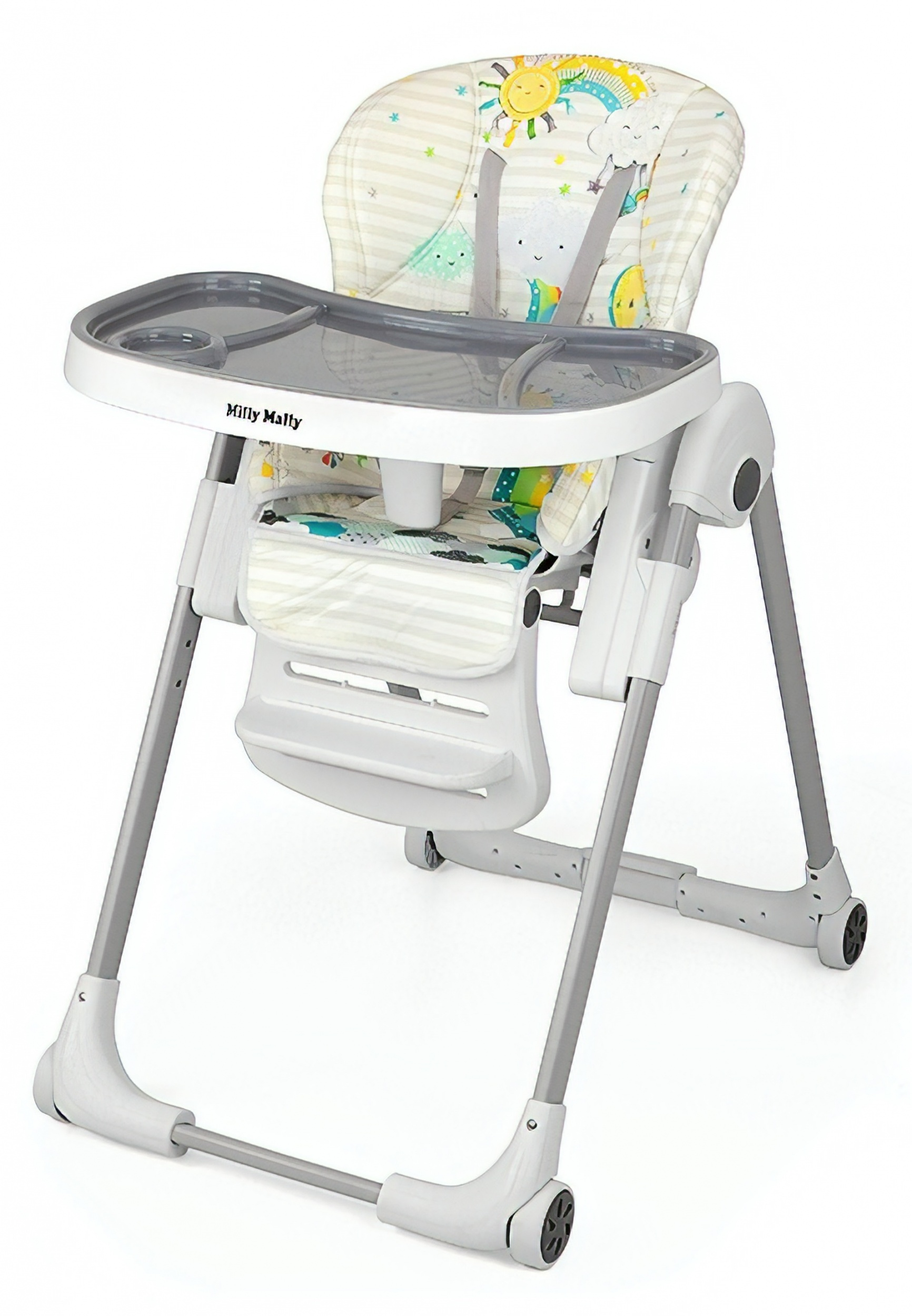 1d722d248f4 Milly Mally high chair Milano Sky102 cm multicolor - Internet-Toys