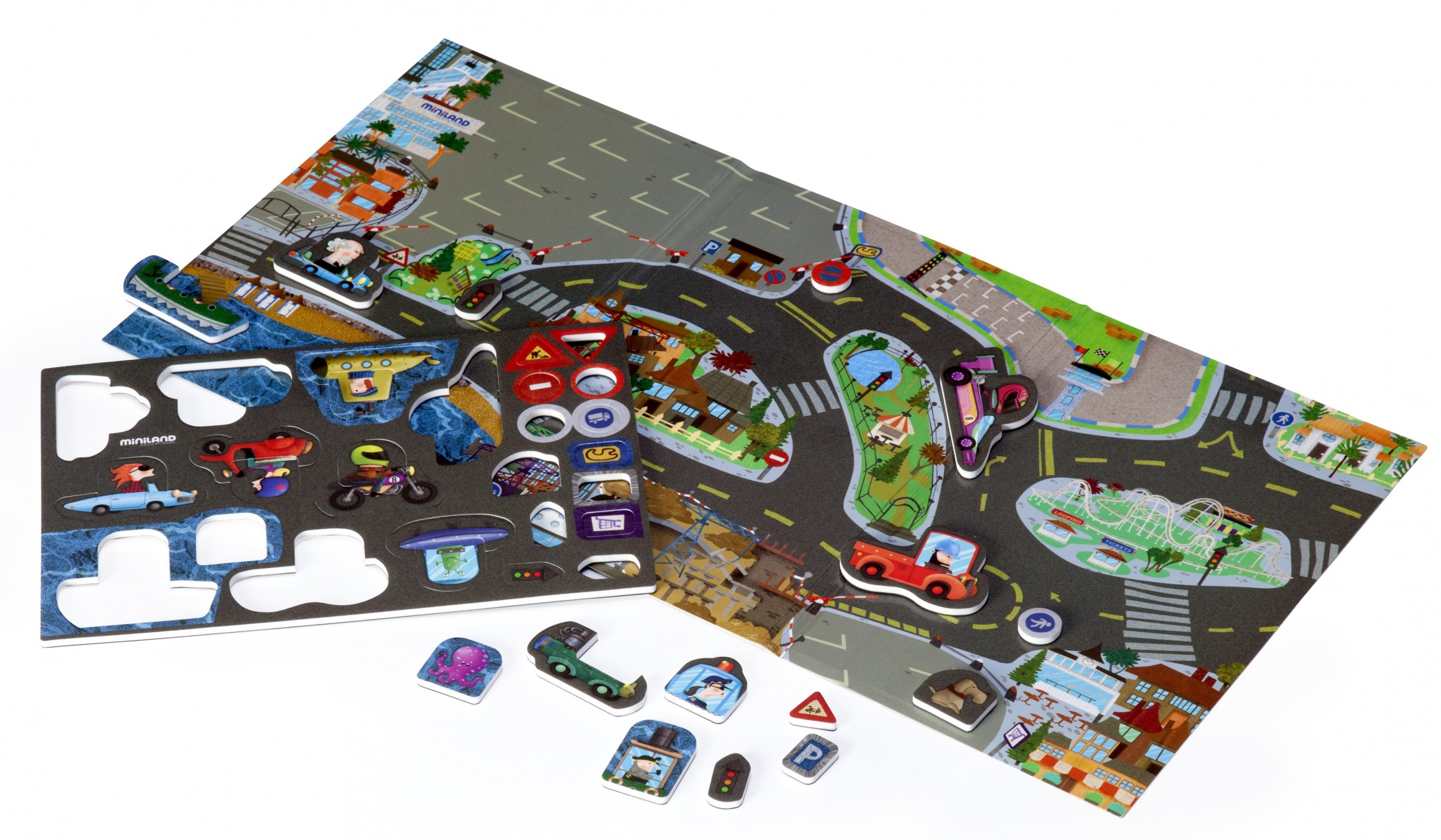 learning game Magnetic- Crazy City junior 34-piece