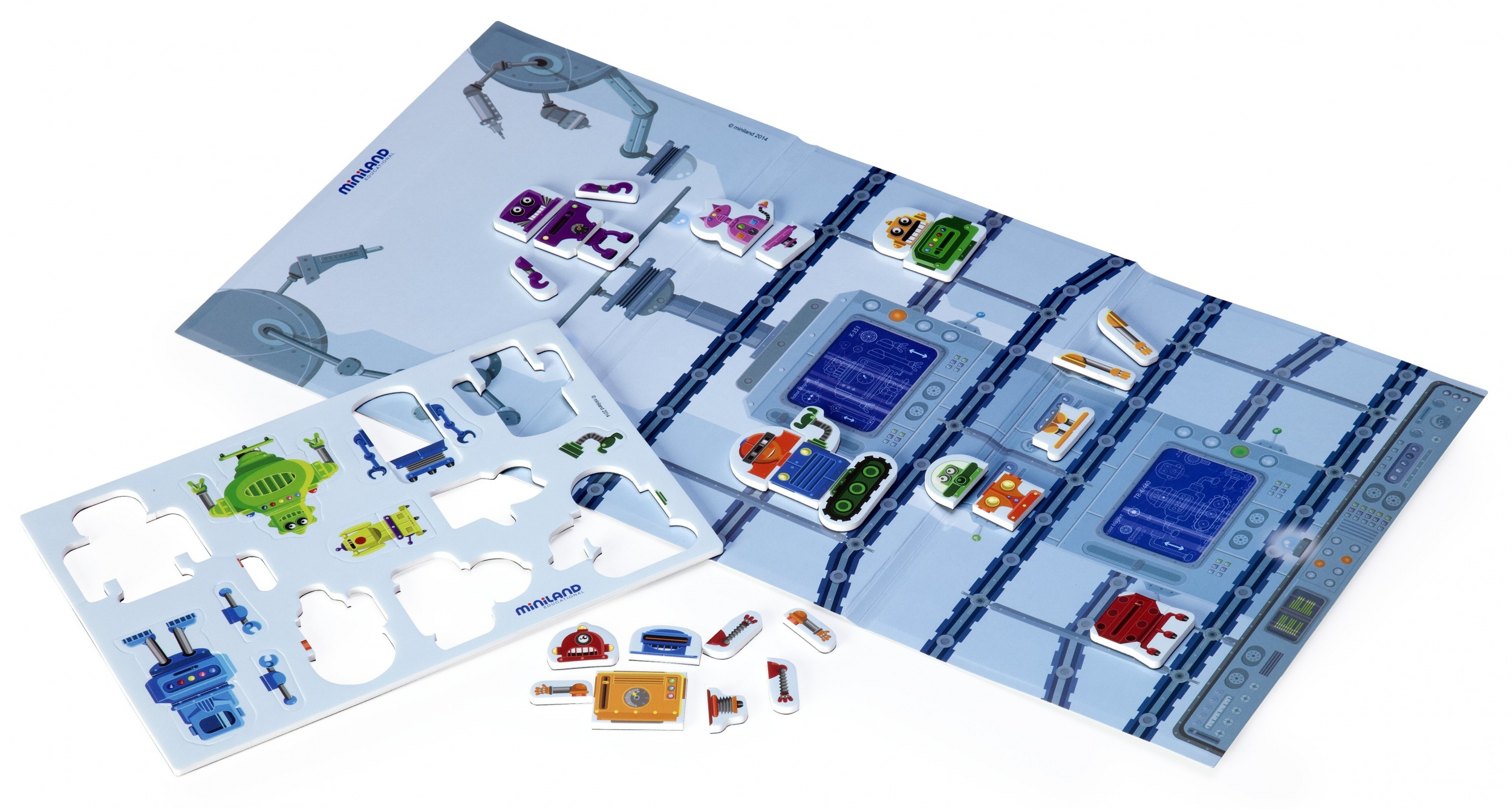 learning game Magnetic- Crazy Robots junior 44-piece