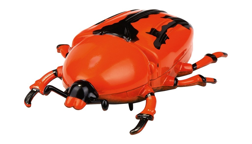 crawling insect 7 cm red