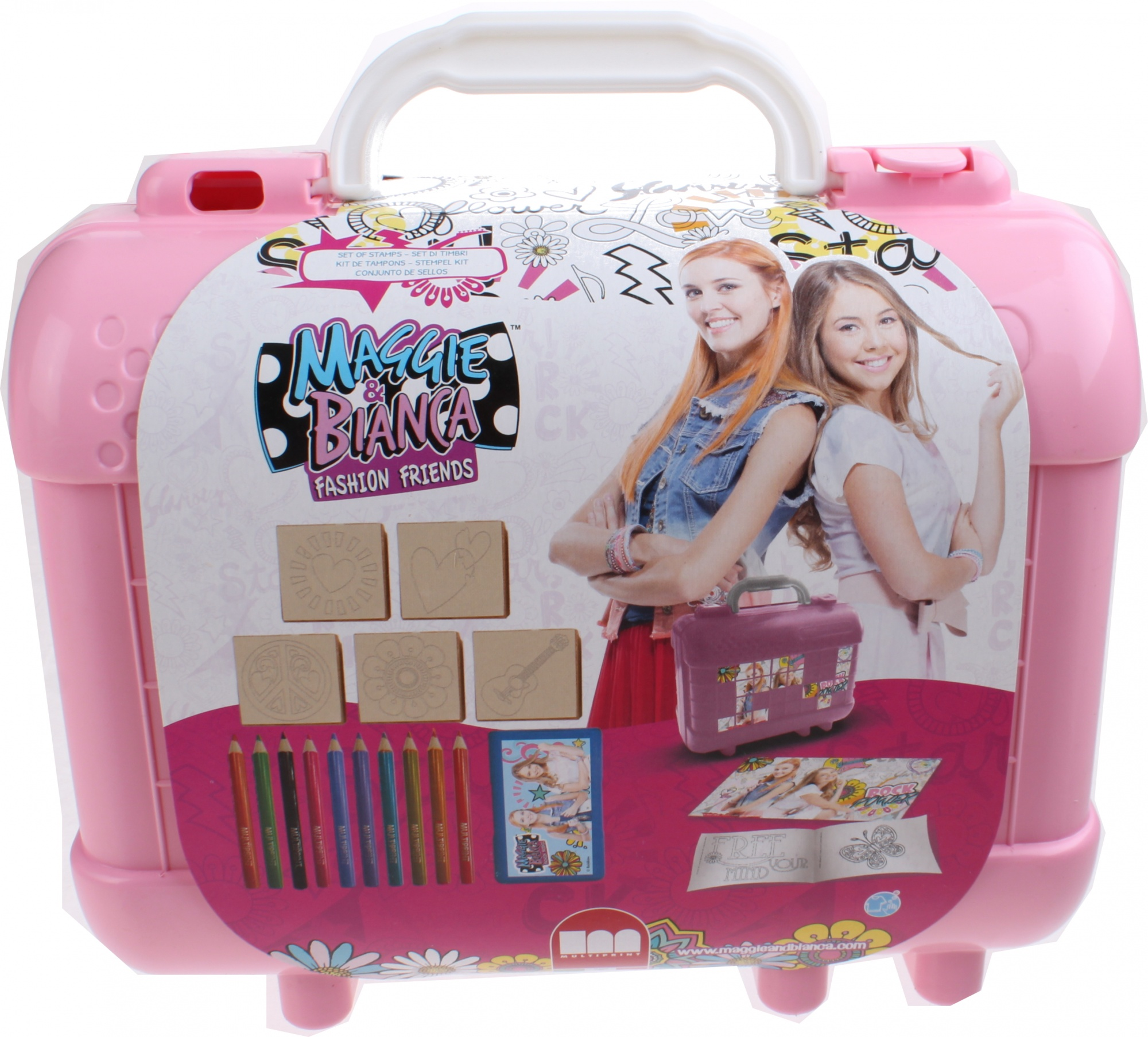 3059ee5a47 Multiprint coloring set Maggie & Bianca 19-piece pink - Internet-Toys