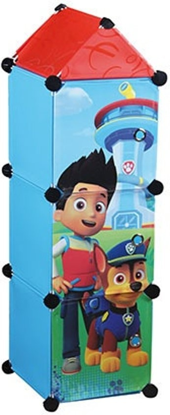 Cabinet With 3 Compartments Paw Patrol Blue 26x26x98 Cm