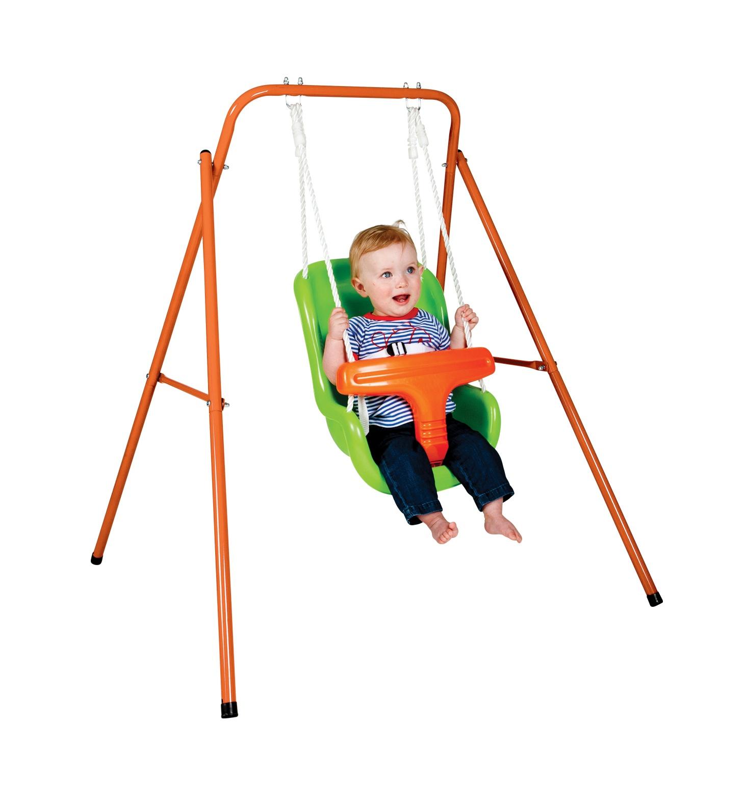 Swing Schommel Baby.Swing With Baby Seat Orange Green