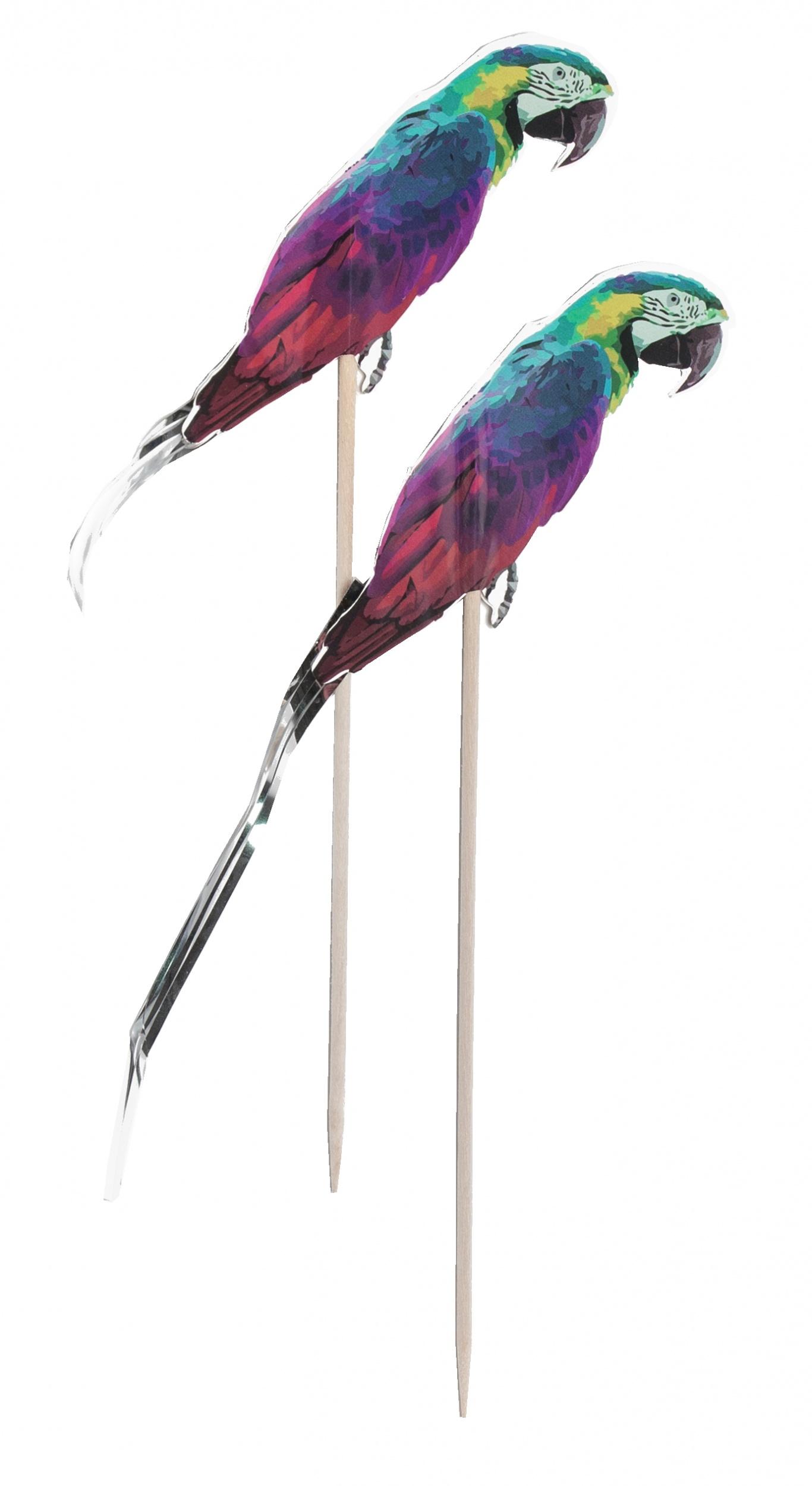 partyprikkers papegaai 10 stuks 15 cm