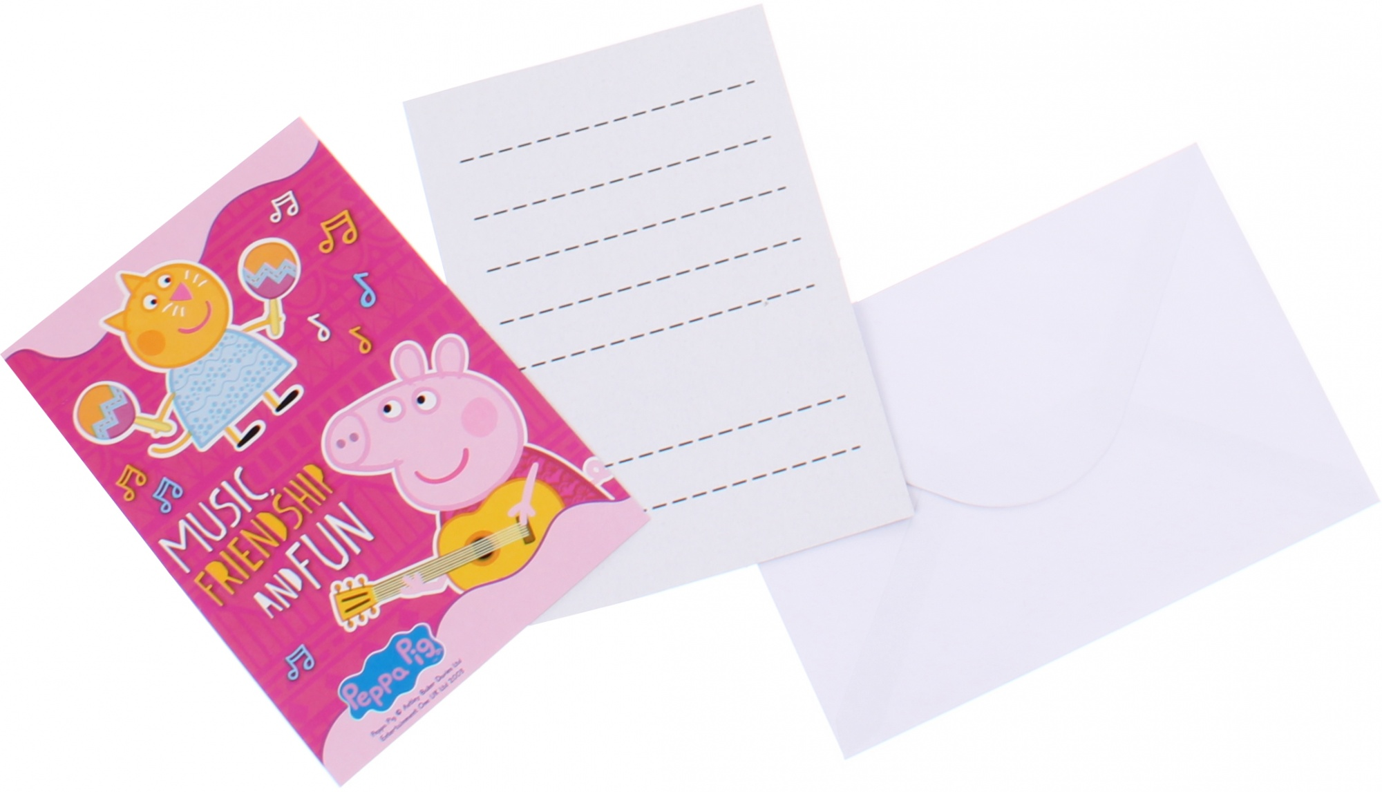 Peppa Pig Invitations With Envelope Pink 6 Pieces Internet Toys
