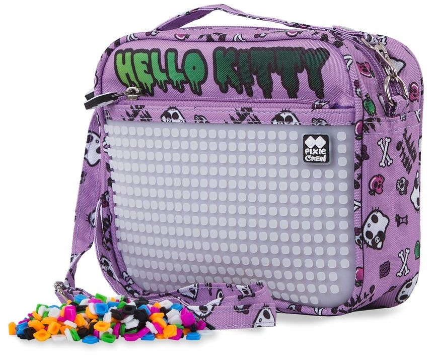 744343084 Free bracelet Pixie crew handbag with silicone panel Hello Kitty 2 liters  purple