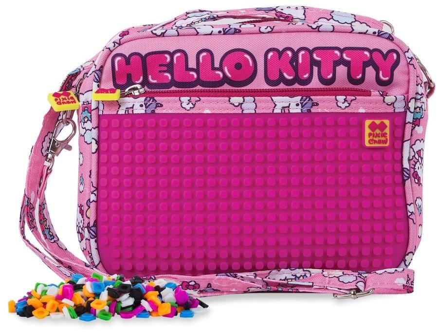 8d8e6d802 Free bracelet Pixie crew handbag with silicone panel Hello Kitty 2 liter  pink
