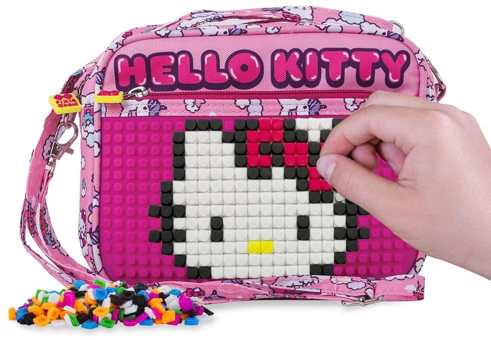 11823a0c0 ... Pixie crew handbag with silicone panel Hello Kitty 2 liter pink