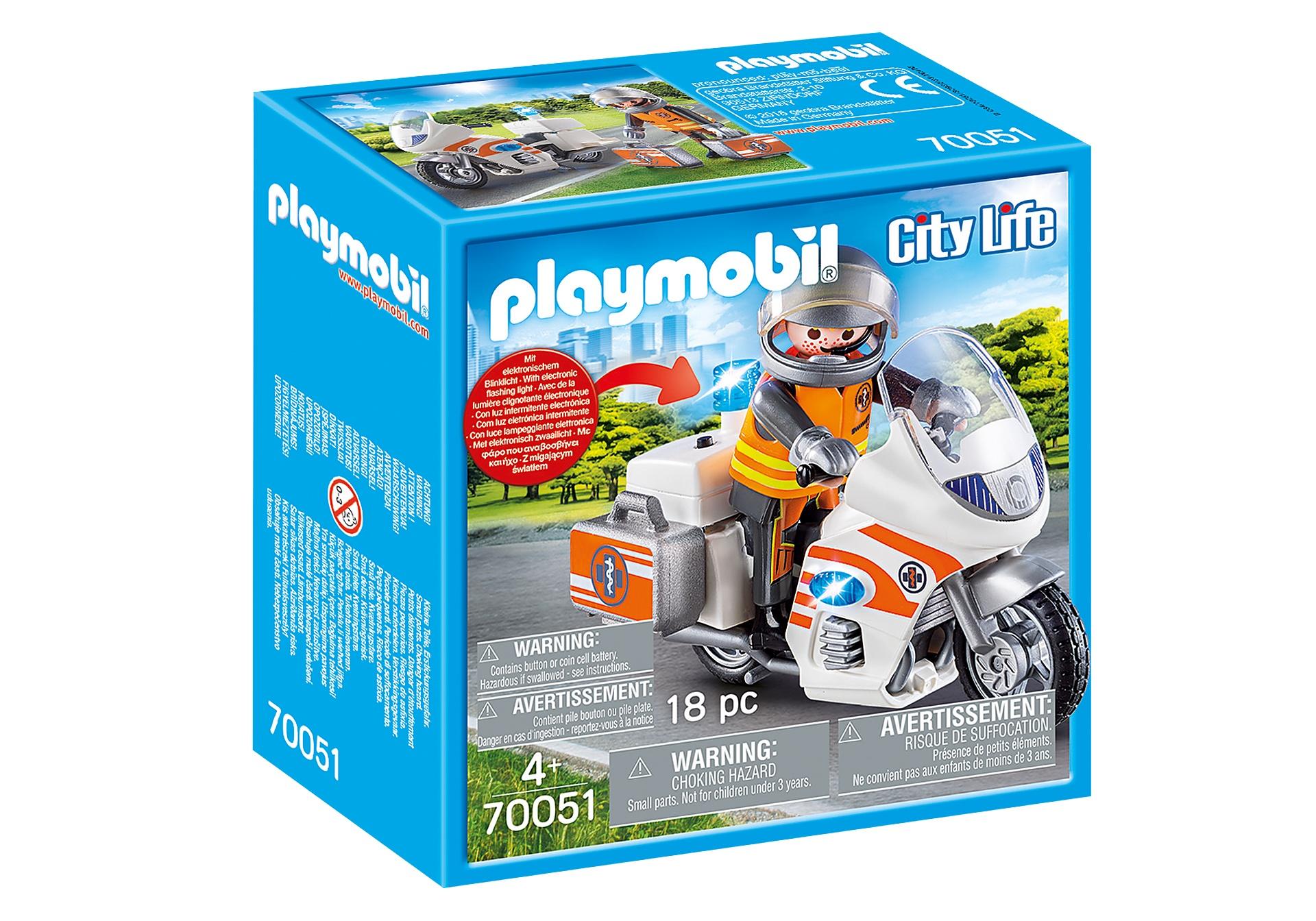 nieuwe uitstraling verenigde staten echte schoenen PLAYMOBIL City Life - Spoedarts op motor (70051) - Internet-Toys