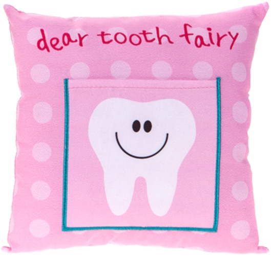 Tooth Fairy Cushion Pink 20 Cm