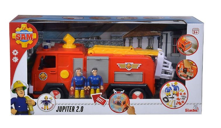 Brandweerman Sam Garage : Simba fireman sam with cart jupiter cm red internet toys