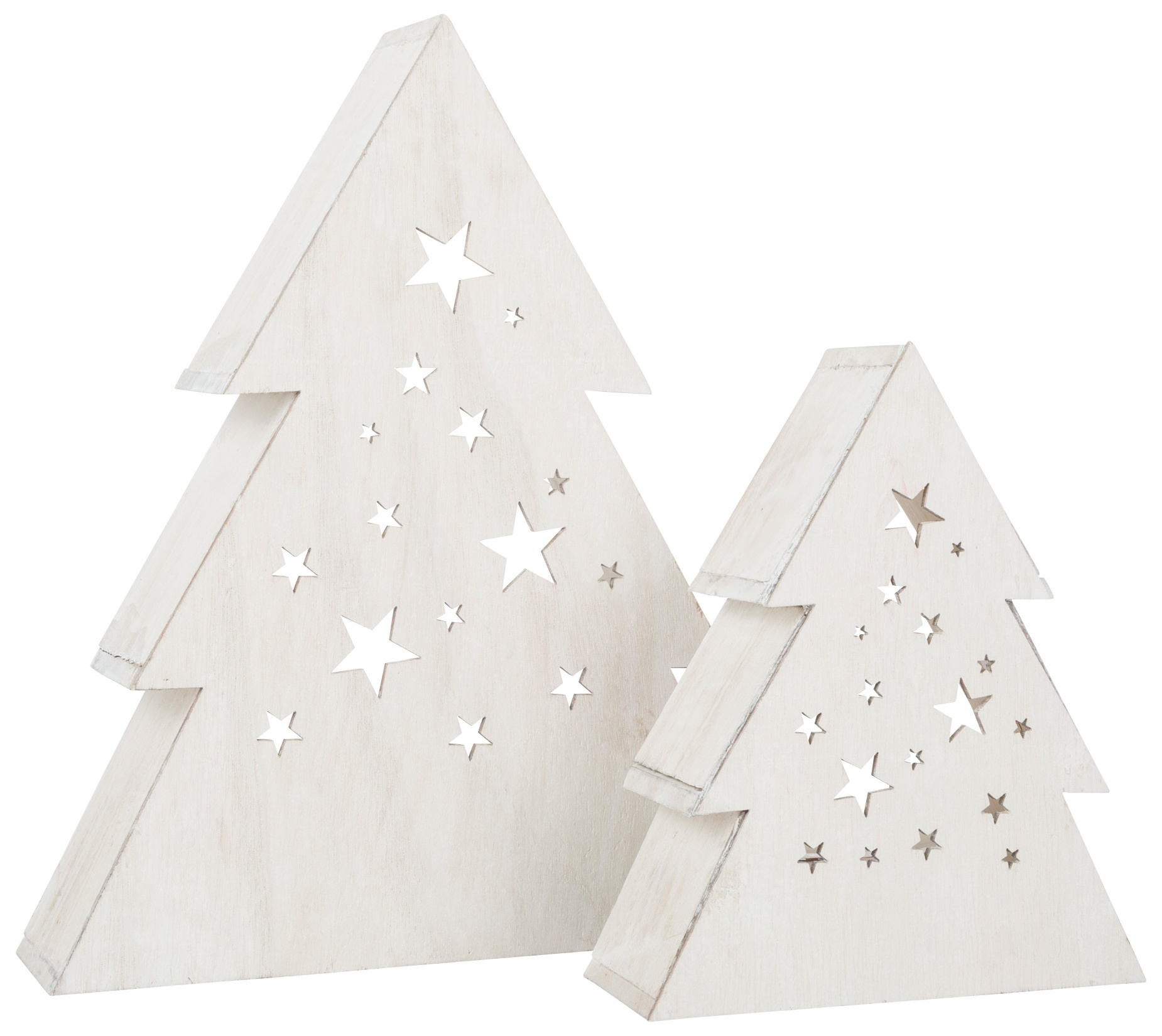 Small Foot Houten Decoratielamp Kerstboom 2 Stuks Wit Internet Toys