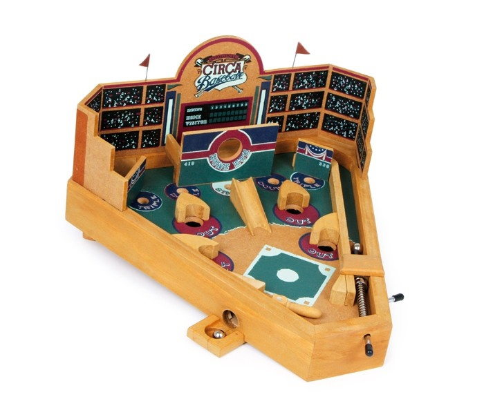 Small Foot Wood Baseball Pinball 40 X 40 X 40 Cm InternetToys Delectable Wooden Baseball Game Toy