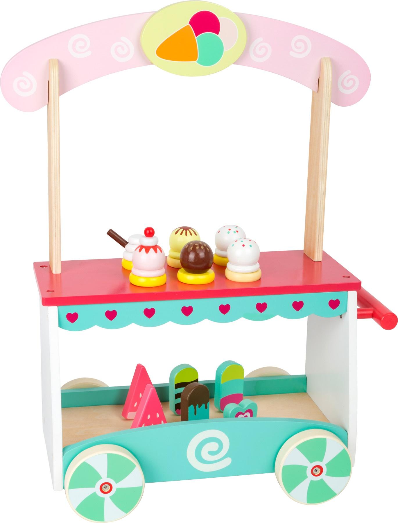 small foot ice cream cart 13-piece - internet-toys