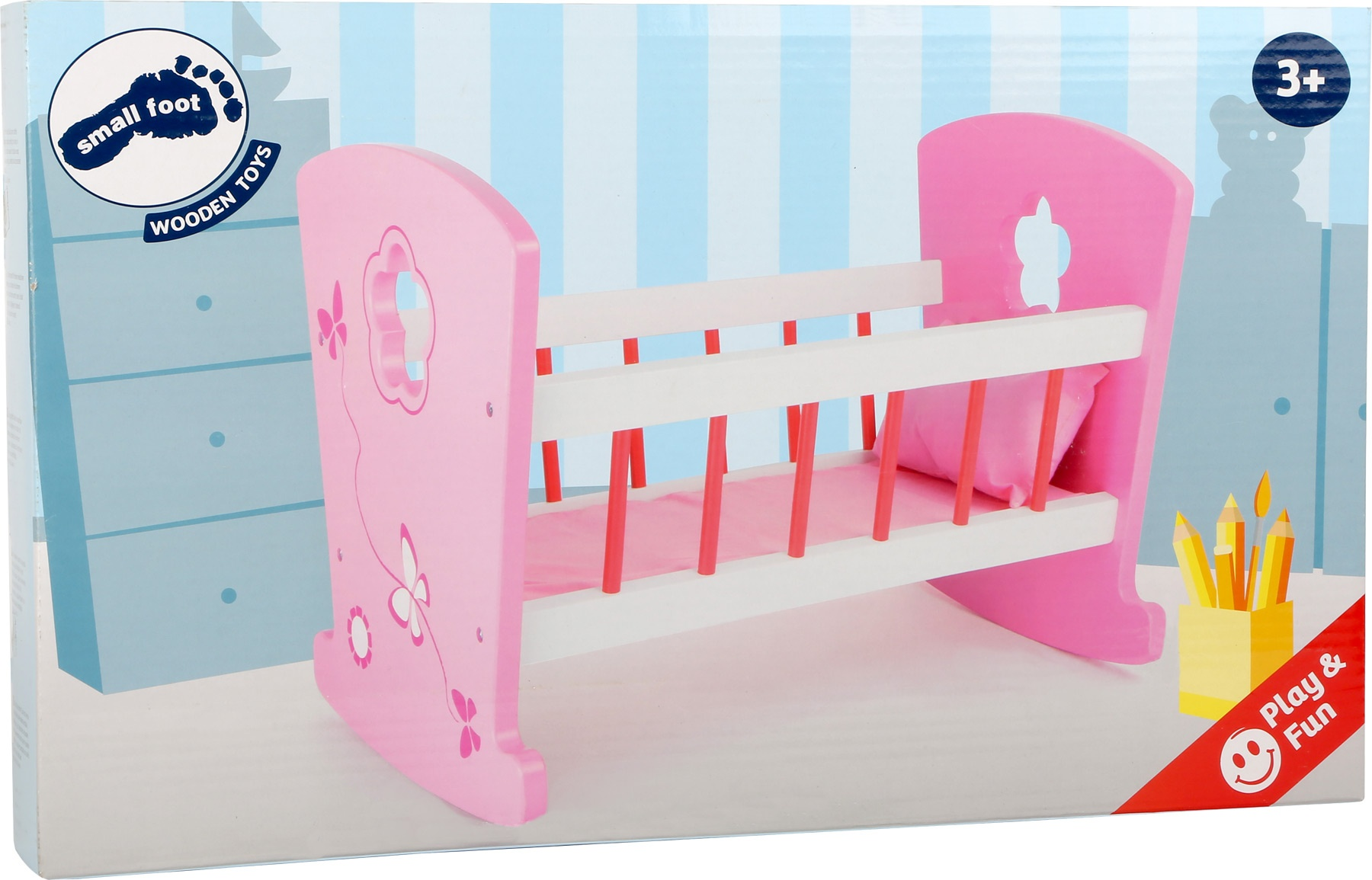 Baby Schommel Bed.Small Foot Dolls Swing Bed Wood Pink 46 X 28 X 34 Cm Internet Toys