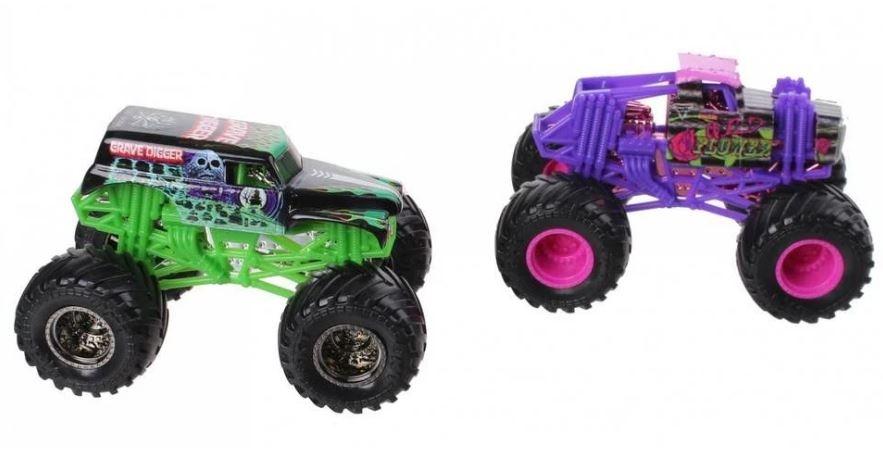 420125b9dc Spin Master Monster Jam sample trucks 9 cm Gravedigger/Wildflower ...
