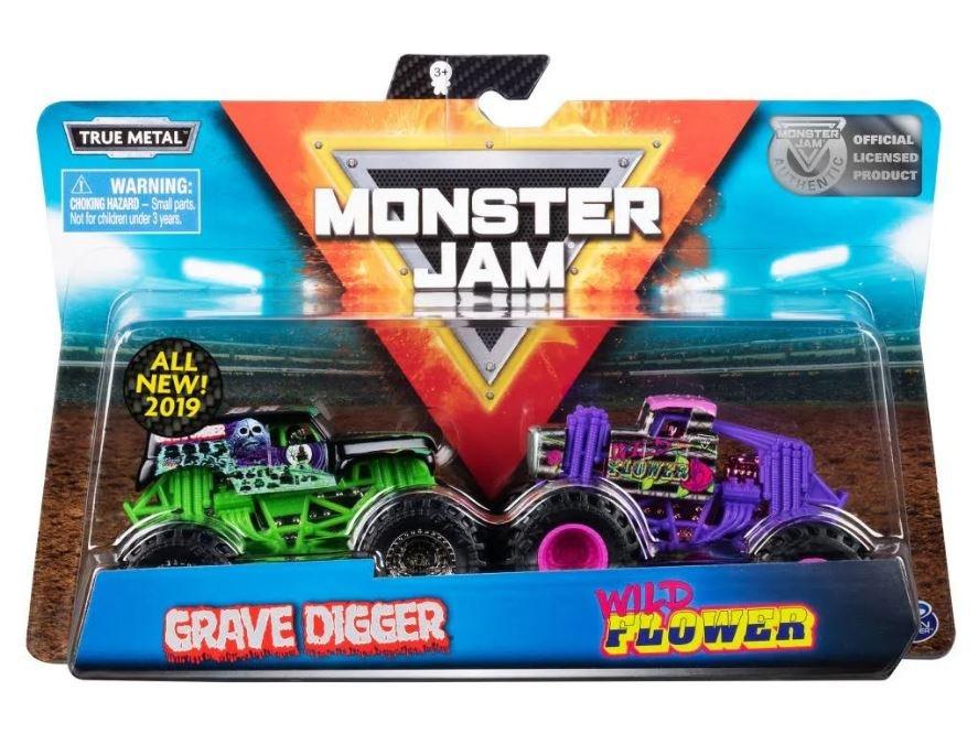 43f4bed0eb ... Spin Master Monster Jam sample trucks 9 cm Gravedigger/Wildflower
