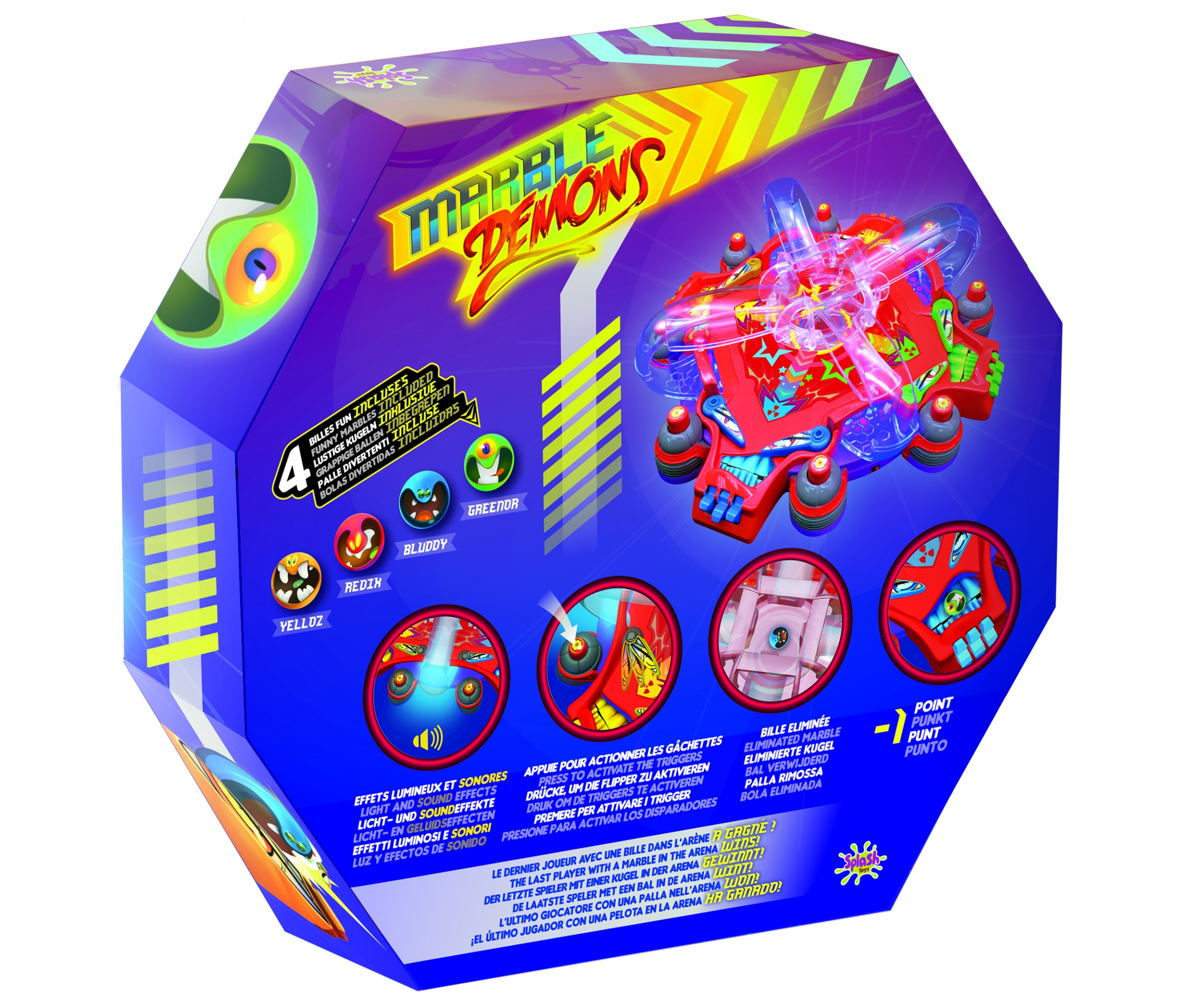splash toys marble demons pinball game - internet-toys