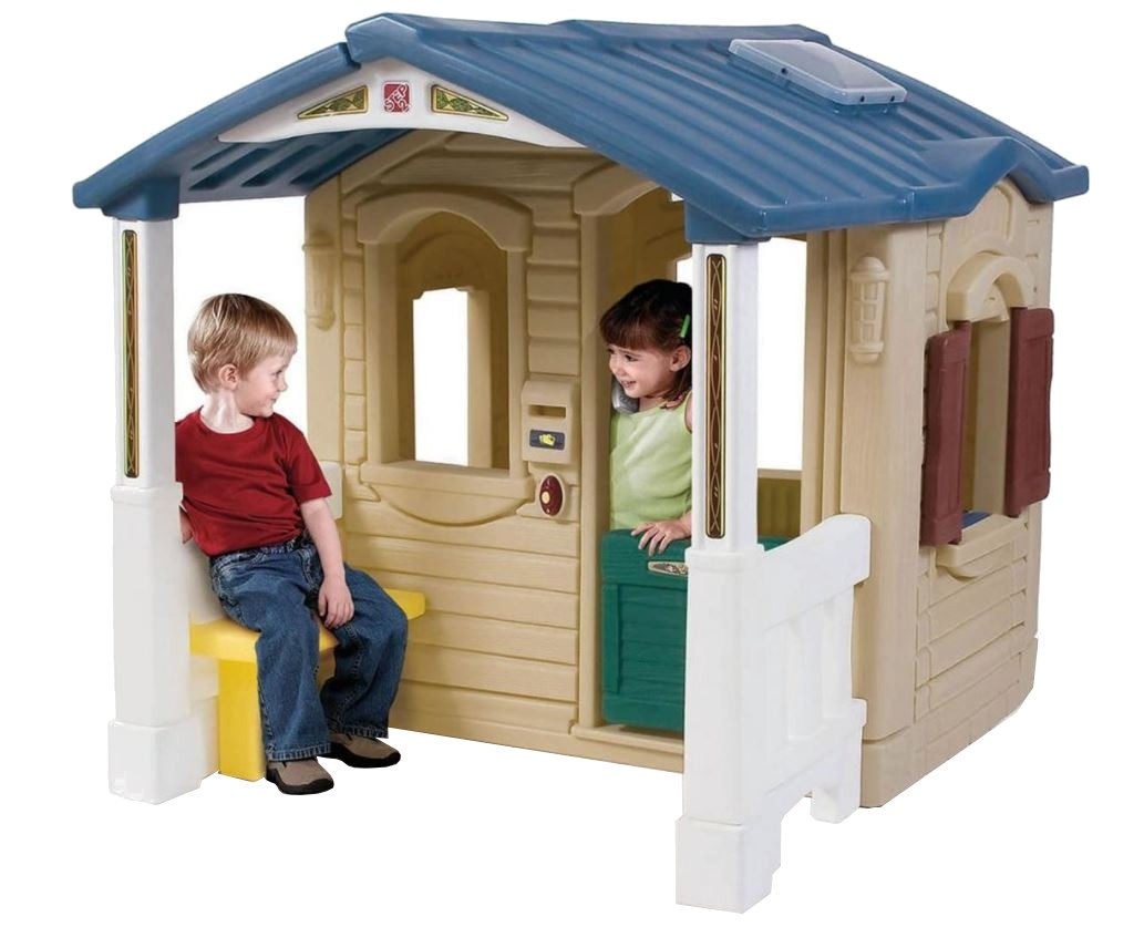 Step speelhuisje met veranda en keuken beige internet toys