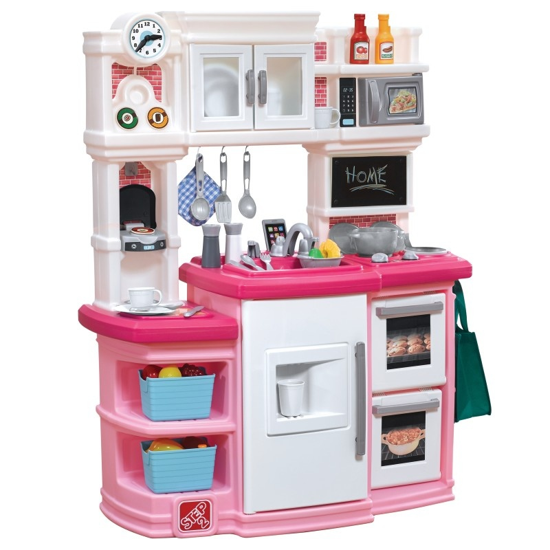 Step2 play kitchen Great Gourmet 116 cm white/pink 30-piece ...