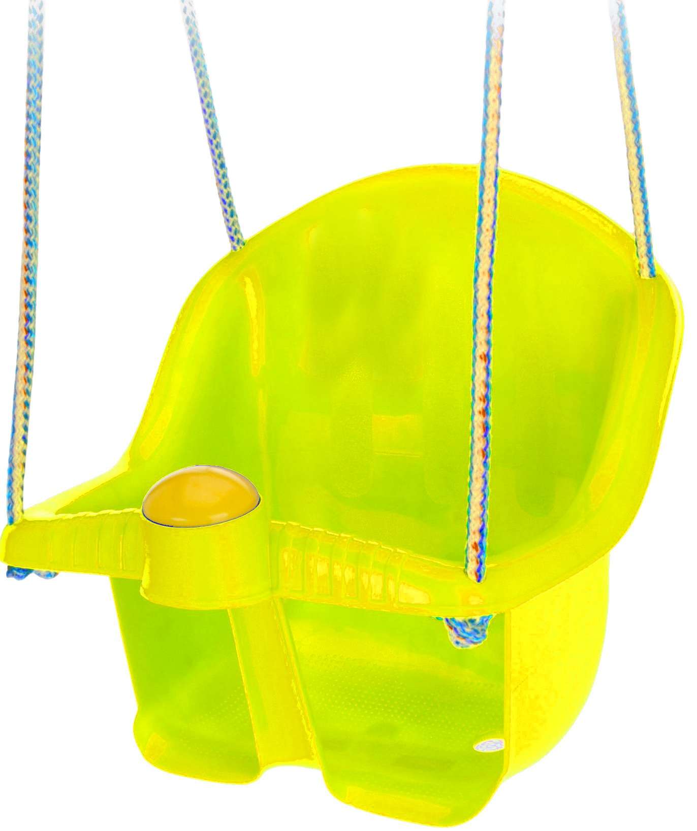 baby swing seat with rope 30 cm yellow
