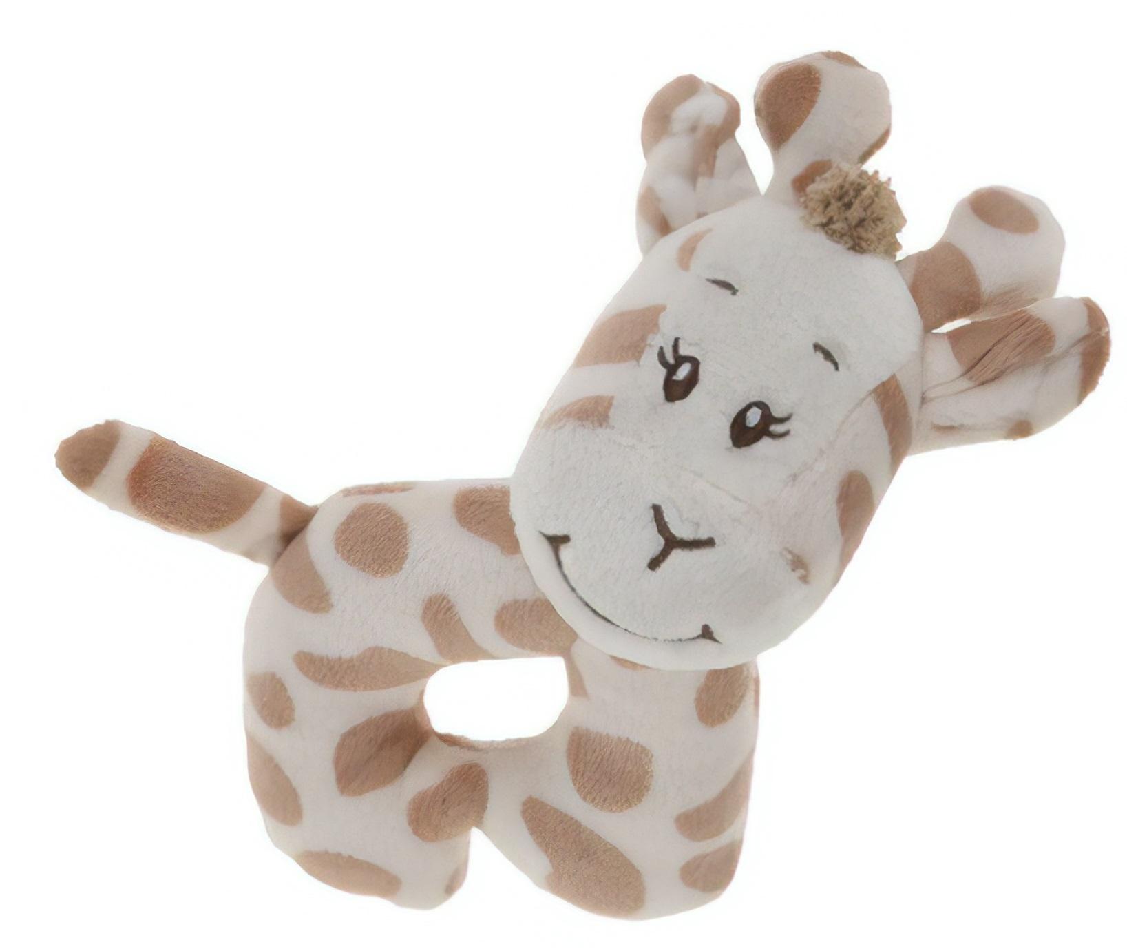 rattle giraffe 14 cm light brown