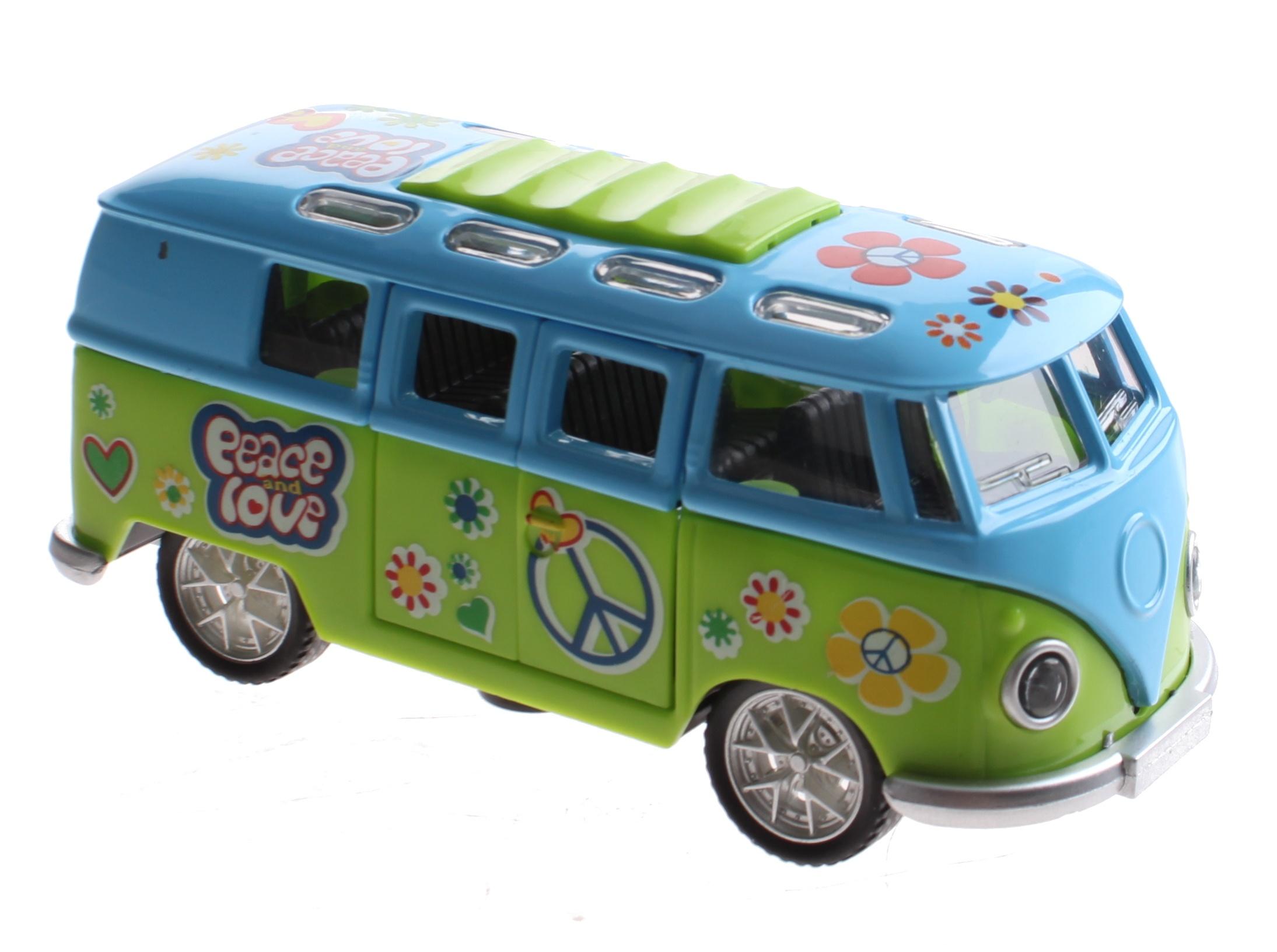 651e0979f9c Toi-Toys FlowerPower Die-cast bus green   blue - Internet-Toys