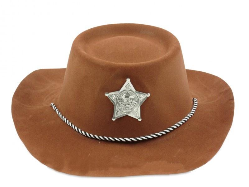 7e378623f0e TOM cowboy hat Sheriff brown - Internet-Toys