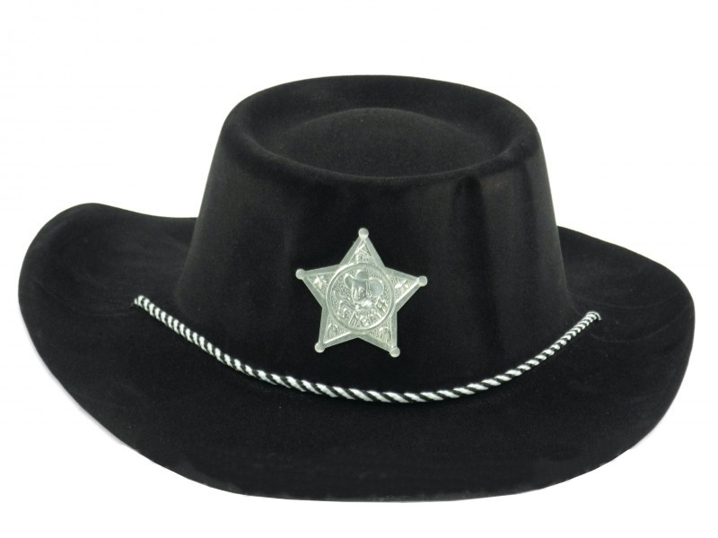 1770afc387e TOM cowboy hat Sheriff black - Internet-Toys