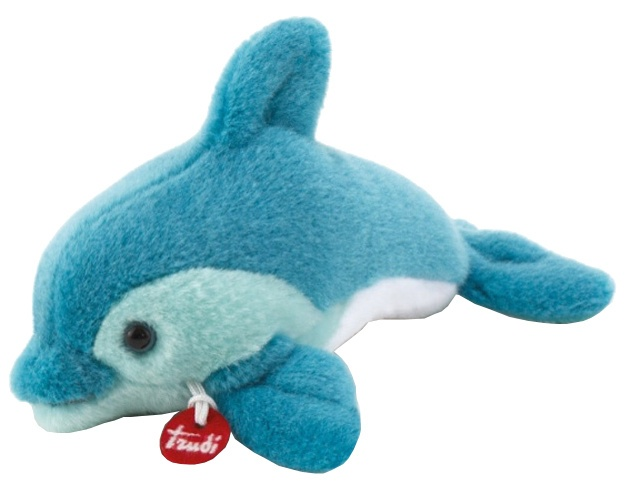 21a74e55421155 Trudi knuffel dolfijn Trudino blauw 15 cm - Internet-Toys