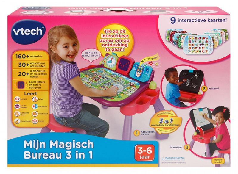 Vtech Mon Bureau Magique 3 En 1 Violet Rose Internet Toys
