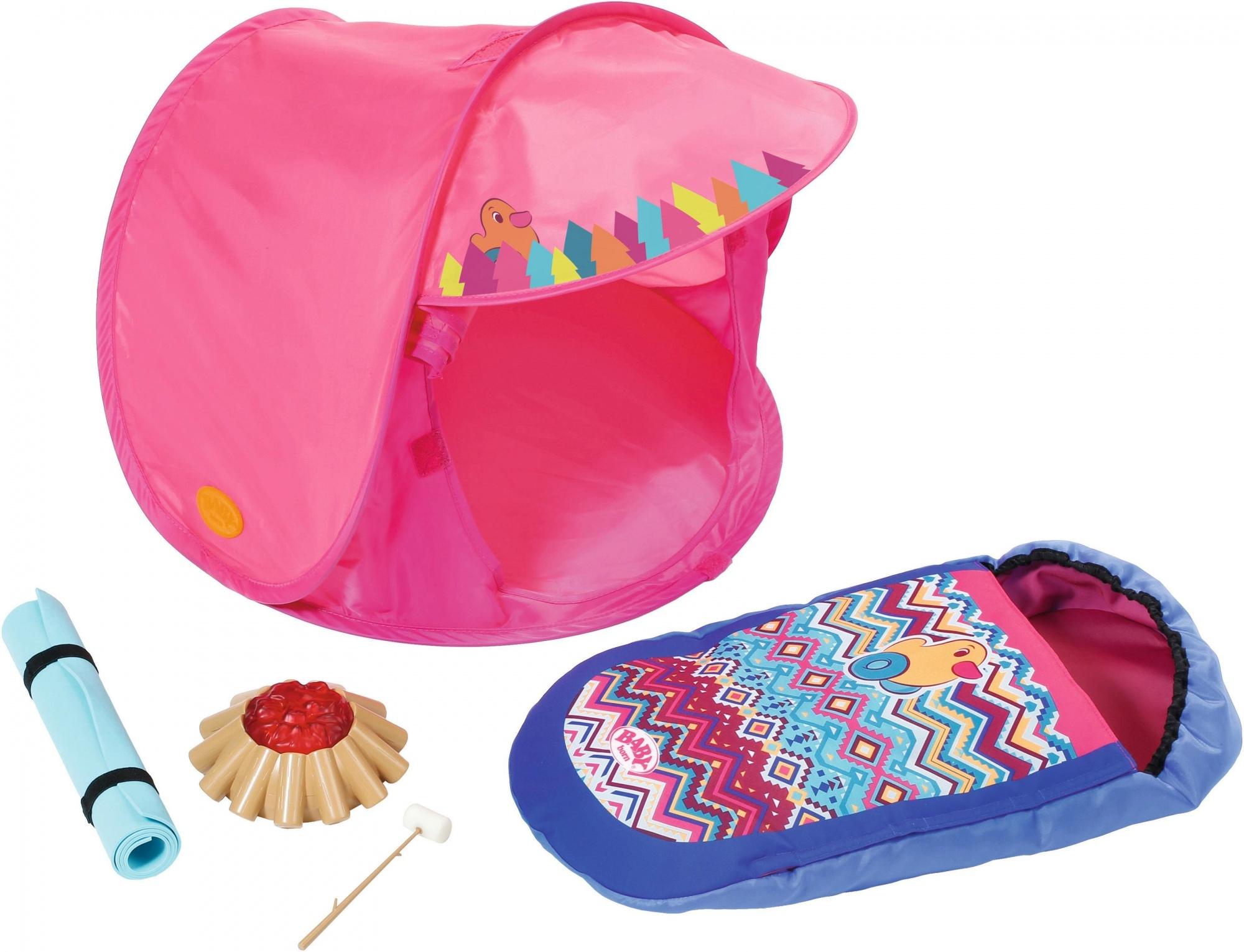 dadf27a474d BABY born Play & Fun Campsite set pink 5-piece - Internet-Toys