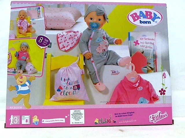 5915846ec BABY born set Deluxe Care and Dress 8-piece - Internet-Toys