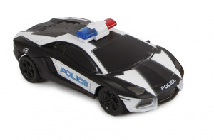 2-Play police car with remote control USA 15,5 cm black