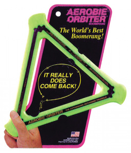 Aerobie boomerang Orbitor junior 29 cm rubber green
