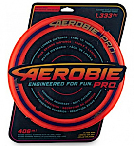 Aerobie frisbee Pro Ring 33 cm rubber rood