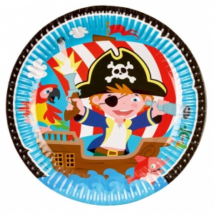 Amscan party signs pirates 8 pieces 32 cm blue