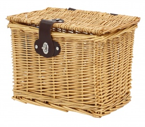 AMIGO bicycle basket willow front 9 litres light brown