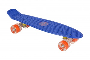 AMIGO skateboard avec éclairage LED 55,5 cm bleu/orange
