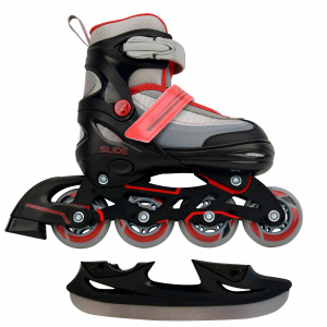 AMIGO skates 2-in-1 Slide junior polypropyleen zwart/rood
