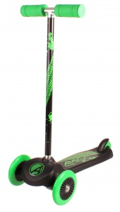 AMIGO Surfer 3-wielkinderstep Junior Foot brakes Black/Green